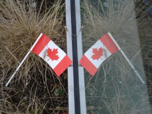 Canadian flag refection. http://kellylmckenzie.com/olympic-moments/